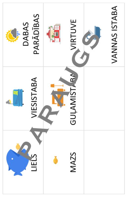 Printējami kartīšu materiāli (e-piegāde)