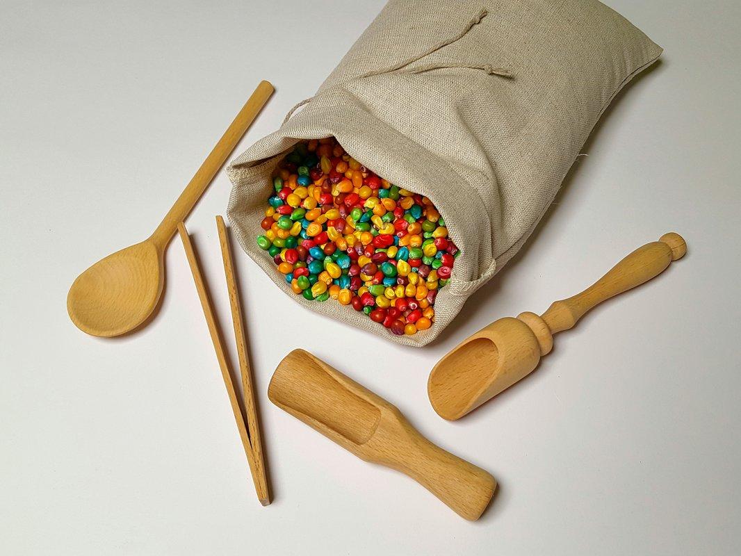 Montessori graudiņu un rīku komplekts