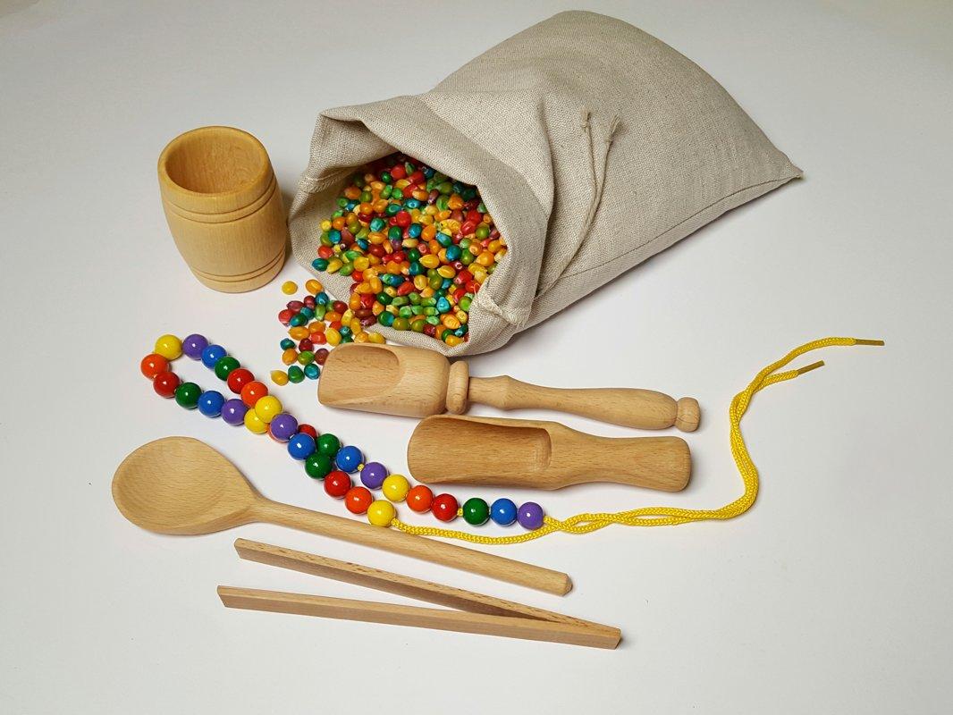 Montessori darbīgo rociņu komplekts